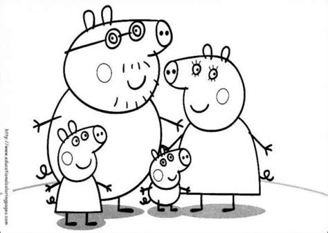 nick jr coloring pages peppa pig free printable peppa pig family coloring page for