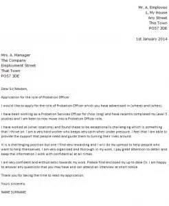 academic probation letter template probation officer cover letter exle icover org uk