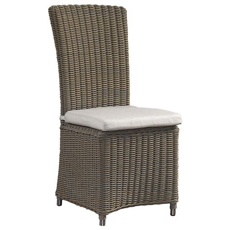 outdoor nico dining chair white cushion  weather
