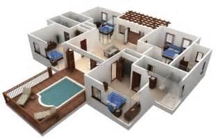 Florplaner Desain Rumah Mewah 1 Lantai Dengan 4 Kamar Tidur