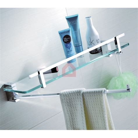 Buy Glass Shelf perk glass shelf swivel bar hook orient series buy bath shelves at decorals