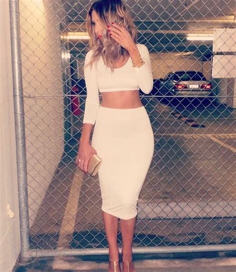 pencil skirt and crop top s t y l e
