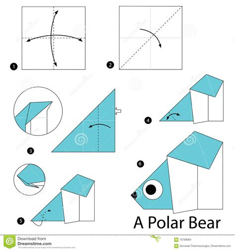 Origami Polar - origami how to origami tutorial animal polar money