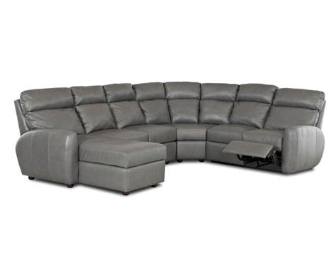 best leather reclining sectional american made best reclining leather sectional ventana clp114