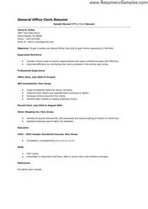 best photos of office clerk resume templates general office clerk resume exle entry level