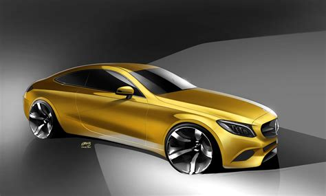 mercedes c class coupe design sketch car design