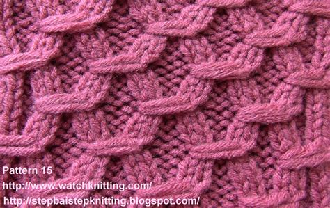 Knitting Pattern Database | embossed knitting stitches watch knitting