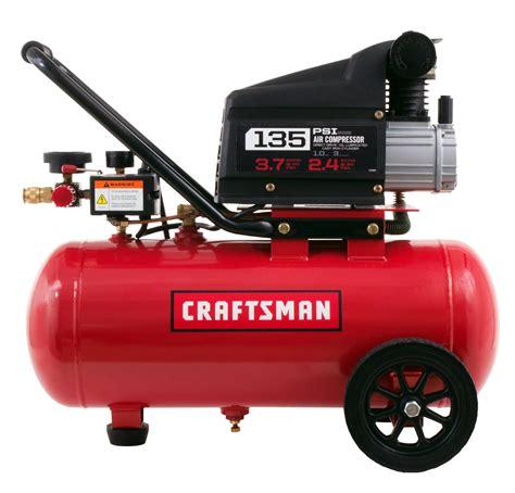 craftsman  gallon  hp horizontal air compressor  max psi