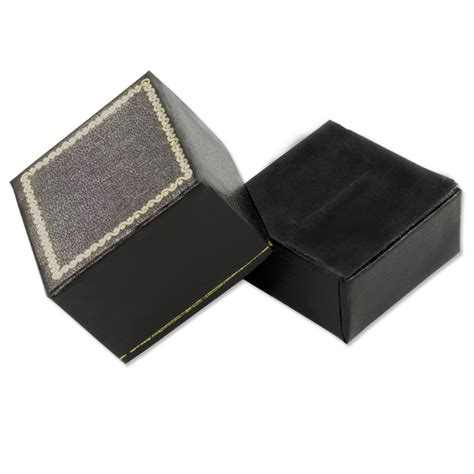 cheap black ring boxes econimicaly priced jewelry ring boxes