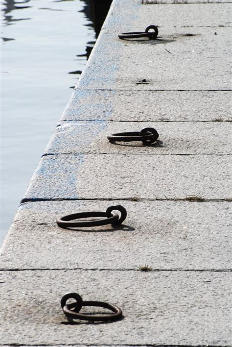 boat mooring game free mooring rings 2 stock photo freeimages