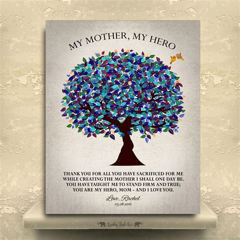 My Mother My Hero, Gift For Mom, Mother's Day Gift, Gift