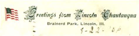Springfield College Letterhead About Lincoln Illinois And The Chautauqua
