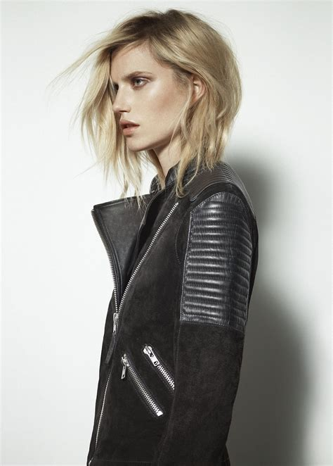 Comby Leather Jacket mango combi leather biker jacket beat things