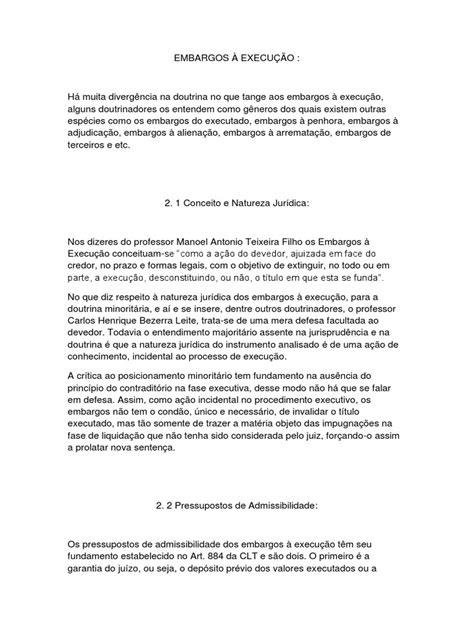 EMBARGOS À EXECUÇÃO (1) | Julgamentos | Pena de Morte