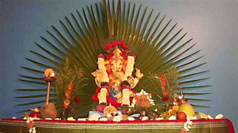 eco friendly ganpati decoration ideas  home