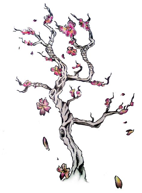 cherry blossom branch tattoo designs cherry blossom by sweetsarcasm on deviantart