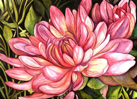 pink chrysanthemum by elaine hodges