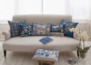 Blue Sofa Pillows Decor Cushions With A Touch Of Trend Simple Home Decoration 2014