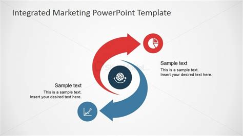 marketing presentation template integrated marketing cycle diagram for powerpoint slidemodel