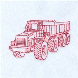 Dump Truck Color Work Embroidery by Redwork Dump Truck Embroidery Designs Machine Embroidery