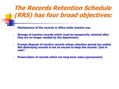 electronic data retention policy template ppt ut records management powerpoint