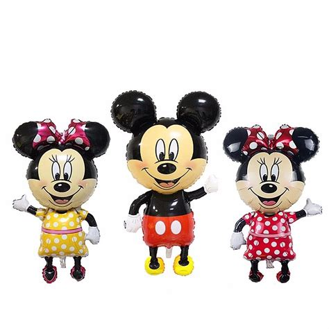 Balloonable Balon Foil Mickey Minnie Mouse new 112 63cm large size mickey minnie mouse foil ballons baby toys balloons birthday