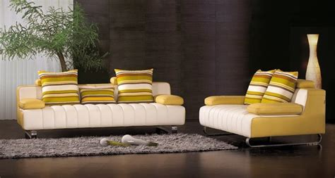 yellow leather sofa and loveseat sennetta modern dark yellow and white leather sofa with