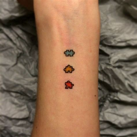 puzzle piece tattoo mini tattoos pinterest pieces
