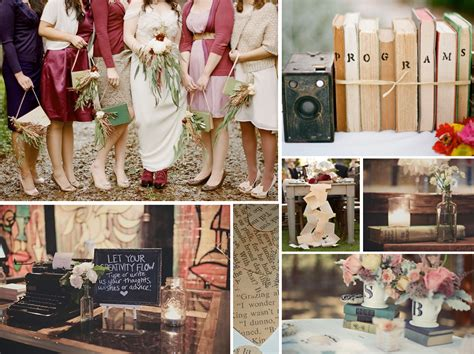 memorable wedding a literary themed wedding for book