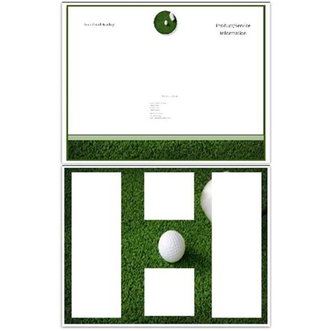 golf brochure template 10 microsoft publisher brochure golf template options