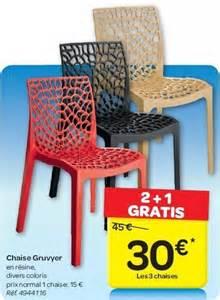 carrefour promotion chaise gruvyer produit