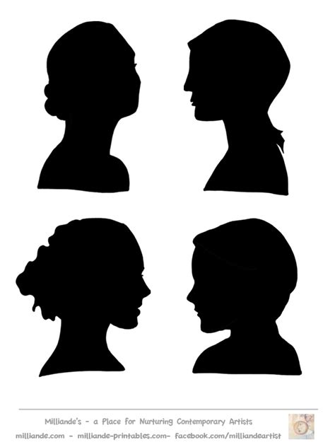 silhouette templates faces silhouette stencil silhouette collection