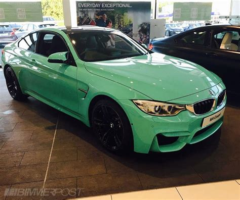 green bmw m4 individual m4 finished in mint green