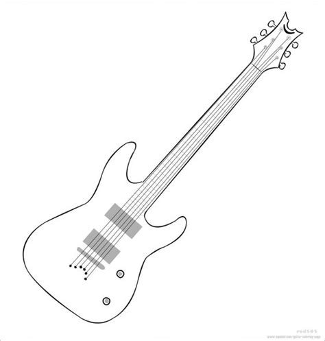 coloring book guitar guitar coloring page kid c work ideas