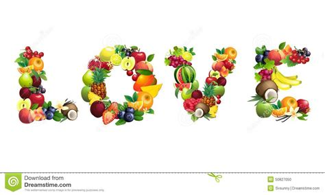Words Associated With Detox by Word Detox Composed Of Different Fruits With Leaves