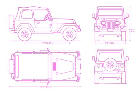 jeep wrangler dimensions drawings dimensionsguide
