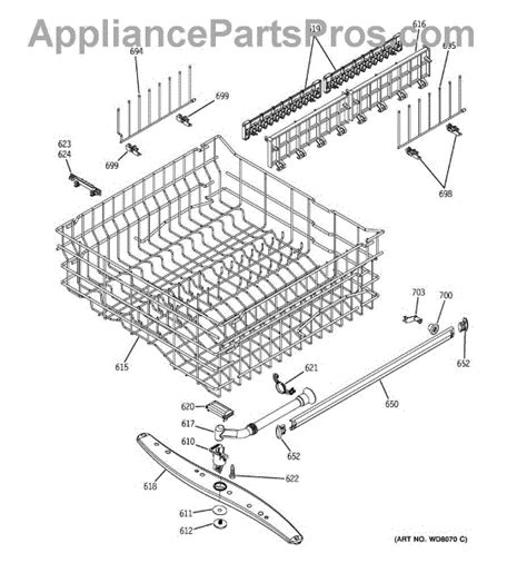 ge dishwasher diagram ge wd35x10054 middle spray arm kit appliancepartspros