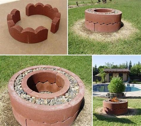 how to make a cheap fire pit in your backyard cheap easy diy firepit back yard pinterest love