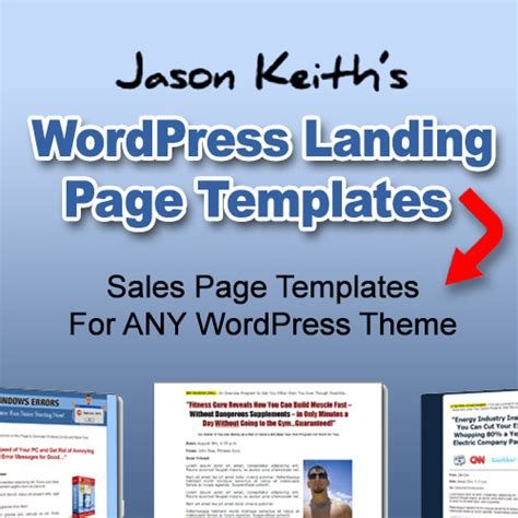 wordpress landing page template collection clickbank