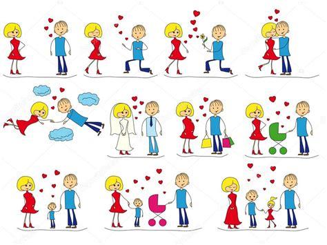 imagenes de historias de amor animadas conjunto de la historia de amor archivo im 225 genes