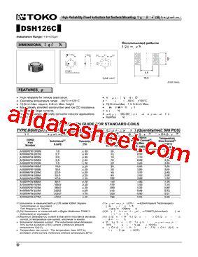 toko inductor datasheet toko inductors datasheet 28 images d310f datasheet pdf toko inc ll1608 fsl15nj datasheet