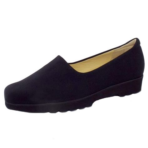 comfortable all black shoes peter kaiser ronda ladies comfortable wide fit shoes in