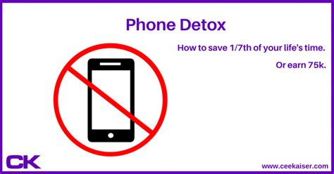 Phone Detox by Phone Detox Or How I Involuntarily Saved 1 7th Of My