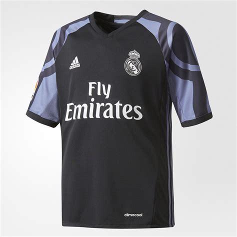 Jersey Real Madrid 3rd Supercopa De Espana adidas real madrid replica third jersey black adidas uk