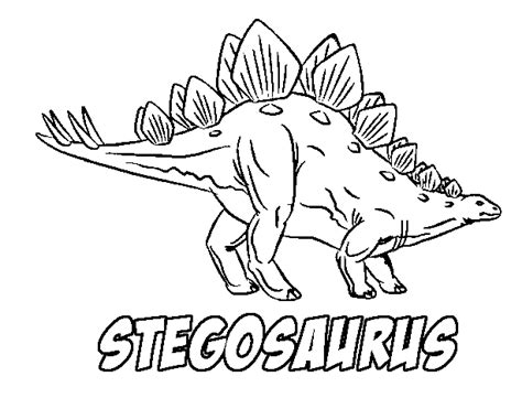 Printable Stegosaurus Coloring Page Coloringpagebook Com