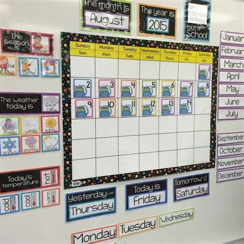 printable calendar classroom organized and cohesive classroom calendar at school