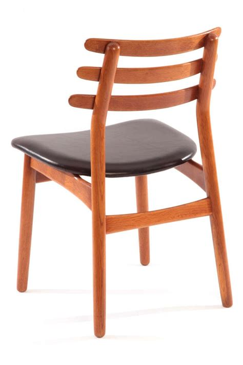 ten poul volther oak and leather dining chairs for sale at