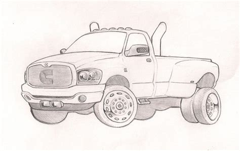 the gallery for gt dodge cummins drawings