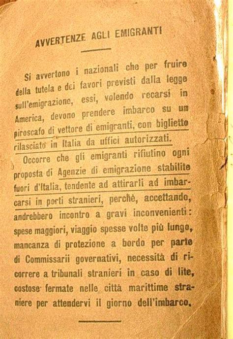 lettere di emigranti italiani emigrazione in america