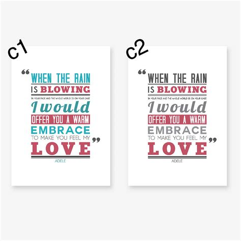 typography lyrics make you feel my typography print by oakdene designs notonthehighstreet